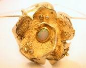 Camellia Petals Opal Silver Gold