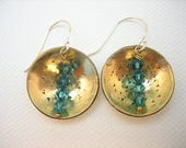 Deep Azure Brass Gold Filled