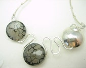 Silvery Cracks Sterling Silver Wire