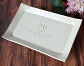 50th Anniversary Gift or Signature Guestbook Platter - Rectangular Personalized Platter