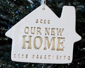 Personalized Christmas Ornament - Our First Home 2021, Our New Home 2021 or Welcome Home 2021 - Christmas Gift for New Homeowners