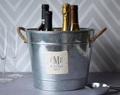 Wedding Gift - Ice Bucket or Wine Bucket - Personalized 3 in 1 Galvanized Set