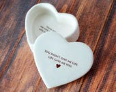 Stepmother of the Bride Gift or Stepmother of the Groom Gift, Stepmom Gift - SHIPS FAST - Heart Keepsake Box - You didn't give me life...