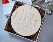 Personalized Baby's First Christmas Ornament, Baby's First Ornament