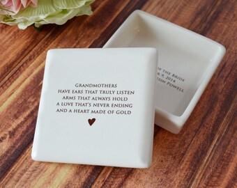 grandmother christmas gift grandmother holiday gift grandma gift grandma gift idea grandma present square keepsake box