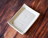 Godparent Gift, Godparent Present, Religious Gift - Personalized Miniature Platter - with Cross