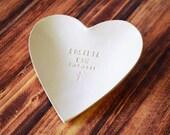 Baptism Gift, Baptismal Gift, Personalized Baptism Gift  - Large Personalized Heart Bowl