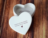 Mother of the Groom Gift, Mother in Law Gift, Mom Gift - SHIPS FAST - Heart Box- Thank You for Raising the Man of My Dreams - Keepsake Box