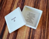 Personalized Baptism Gift, First Communion Gift, Confirmation Gift, Religious Gift - Square Keepsake Box