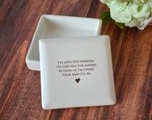 Mother of the Bride Gift - Square Keepsake Box - As Long as I'm Living Your Baby I'll Be