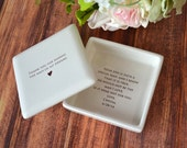 Unique Mother of the Groom Gift - Thank You For Raising the Man of My Dreams - Square Keepsake Box