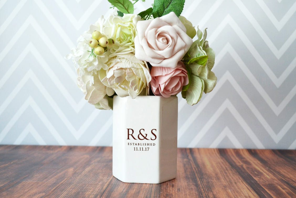 Modern Wedding Gifts: Wedding Gift Or Wedding Centerpiece Vase Modern Vase