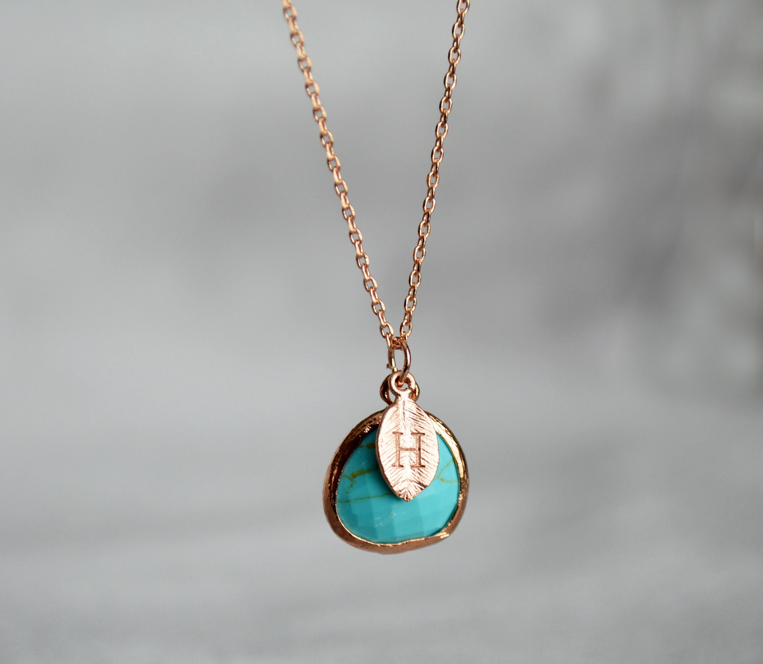 Turquoise Stone Anniversary Gift Turquoise Coin Layering Necklace Gift for Bride Everyday Necklace December Birthstone
