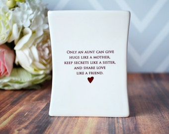 Unique Aunt Gift, Gift for Aunt, Aunt Birthday Gift or Aunt Wedding Gift,  - SHIPS FAST - Square Vase