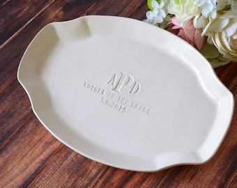 Mother of the Bride Gift or Mother of Groom Wedding Gift - Personalized Platter