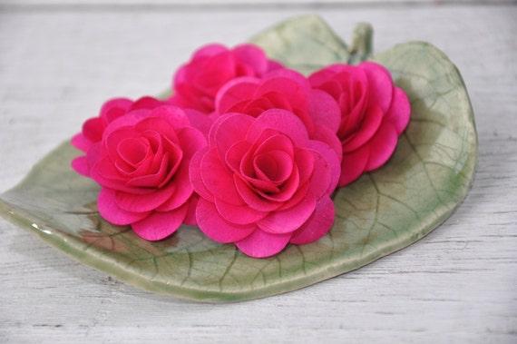 24 pcs fuschia hot pink birch wood roses for weddings home etsy image 0 mightylinksfo