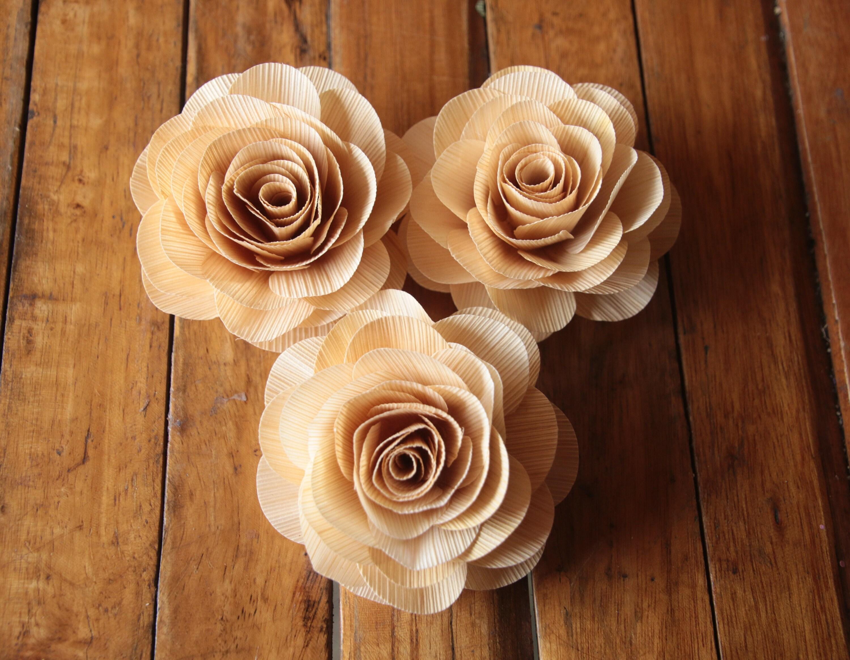 Cabbage Rose 6 Pcs Cornhusk Roses Eco-friendly Wedding   Etsy
