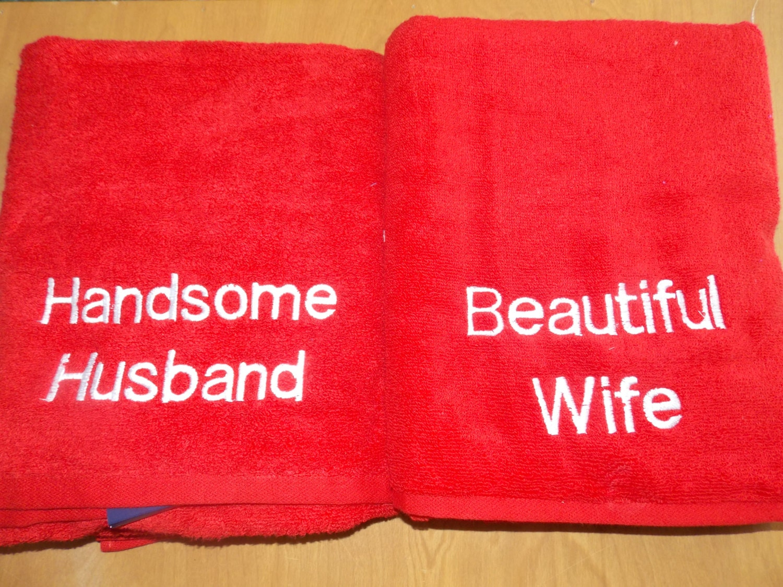 Cotton Wedding Gift: Monogrammed Wedding Gift Anniversary Towels Cotton