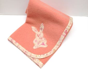Pure Wool Easter Bunny Baby Blanket