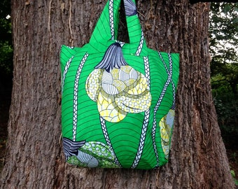 African Print Beach Bag Reusable Bag