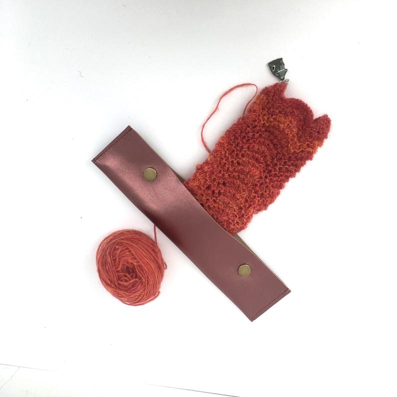 DPN Circular Knitting Needle Case Metallic Plum