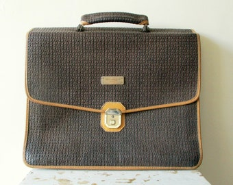 3c15f95b6a6d Vintage french portfolio briefcase school bag TED LAPIDUS Fidelio 1980s  Attache case Handbag Cartable Serviette Pochette Sac