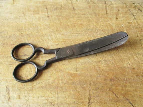 C6179 92mm Small Antique Vintage Collectors Curved Scissors Pruners Gardening