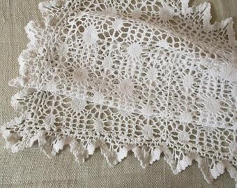 Vintage french crochet doily, 1950s, Antique, Embroidery, Vintage, France, Napperon Dentelle, France