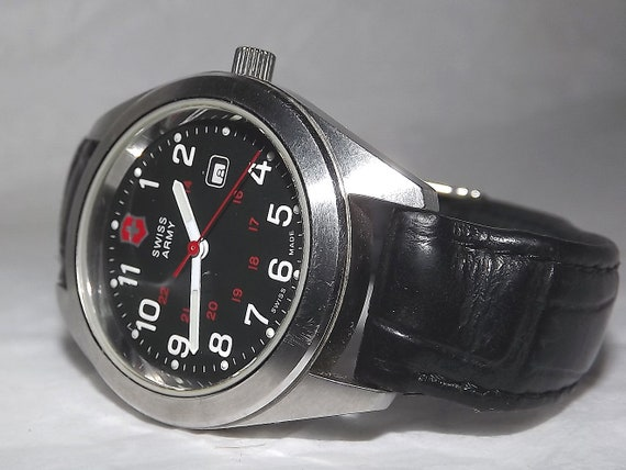 Vintage Victorinox Swiss Made Date Military Watch
