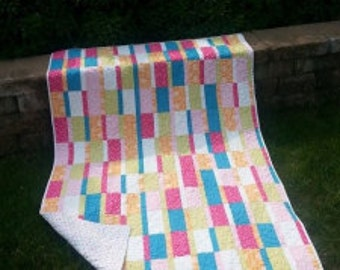 Quilt Pattern, Through Thick or Thin, Fast, Fun, Easy, Colorful, Kids