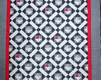 Quilt Pattern, It Needs a Pop of Red