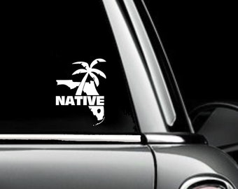 Florida Native Decal White Choose Size