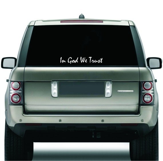 "/""IN GOD WE TRUST/"" Auto Car Bumper Window Decal Sticker Vinyl Graphic 8/"" X 2/"""