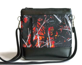 Wildfire Camo Crossbody Bag - Crossbody Purse - Sling bag - Cross Body bag - Camo purse - Orange Camo - Moonshine Camouflage  - Cute purse