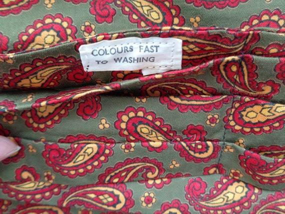 Dandy Peacock Victorian Steampunk Vintage 1960/'s Red Pattern Ascot Cravat