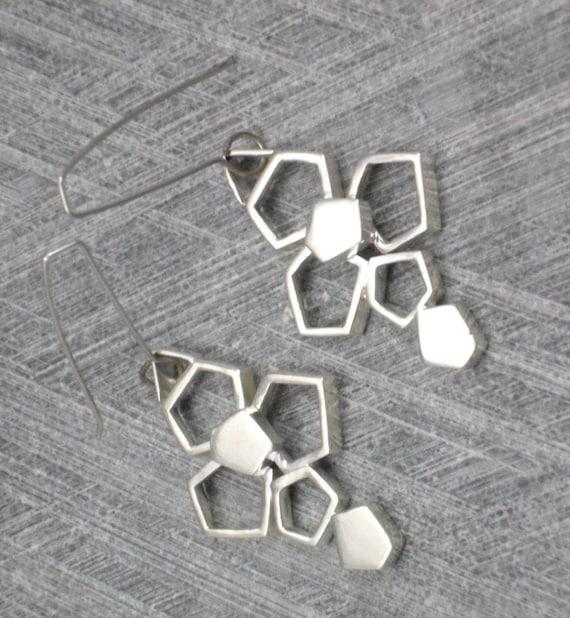 Color Dorado Plateado Largo Dangle Gancho geométrico Moda para Mujer Pendientes vendedor del Reino Unido