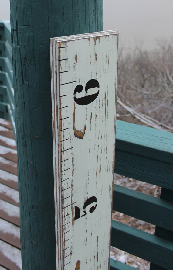 Childrens Wooden Growth Chart Ruler For A Nursery Baby Etsy