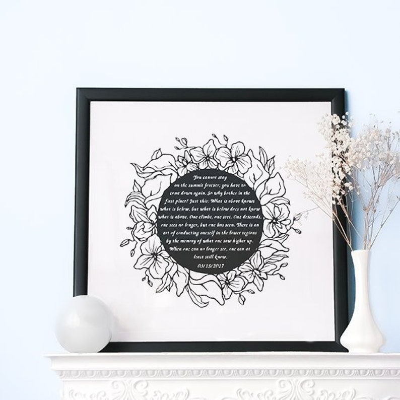 Wedding Vow Gift Vow Renewal Gift Wedding Vow Keepsake Etsy