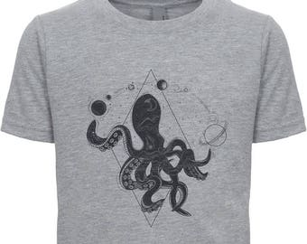 Celestial Octopus, Astronomer Octopus, Cool Squid Shirt, Gift for Teen Boy, Octopus Tee, Funny Astrophysicist Tshirt, Gift for Men, Octopi