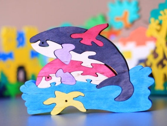 wooden killer whale puzzle child s puzzle kid s wood