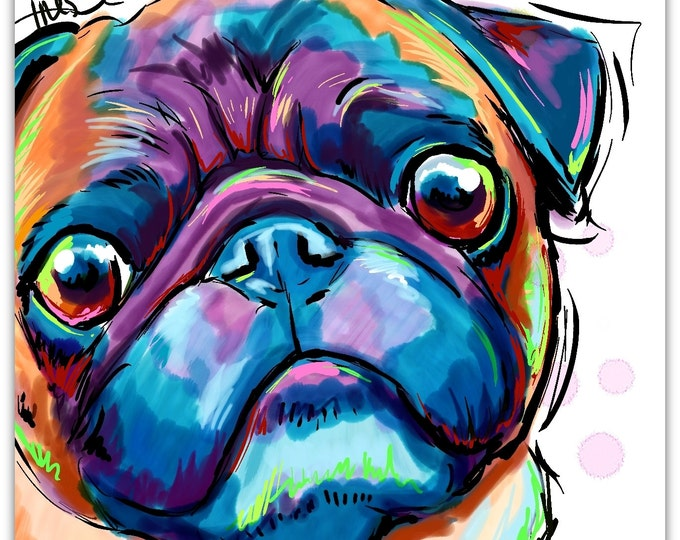 Pug Face art print