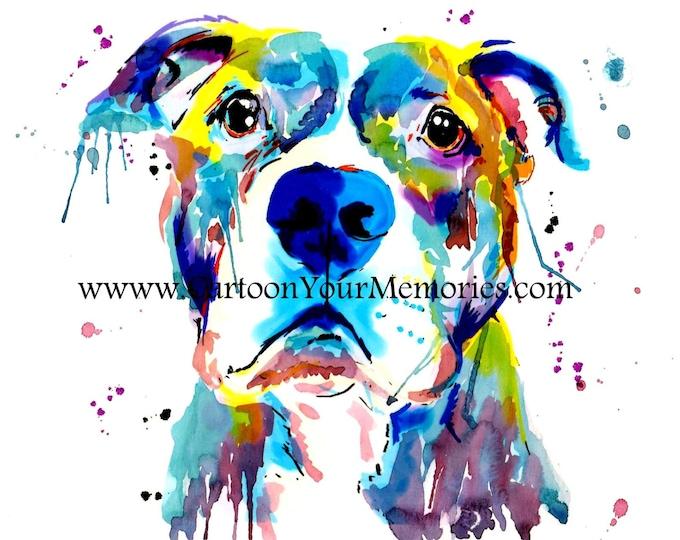 Pit bull art print