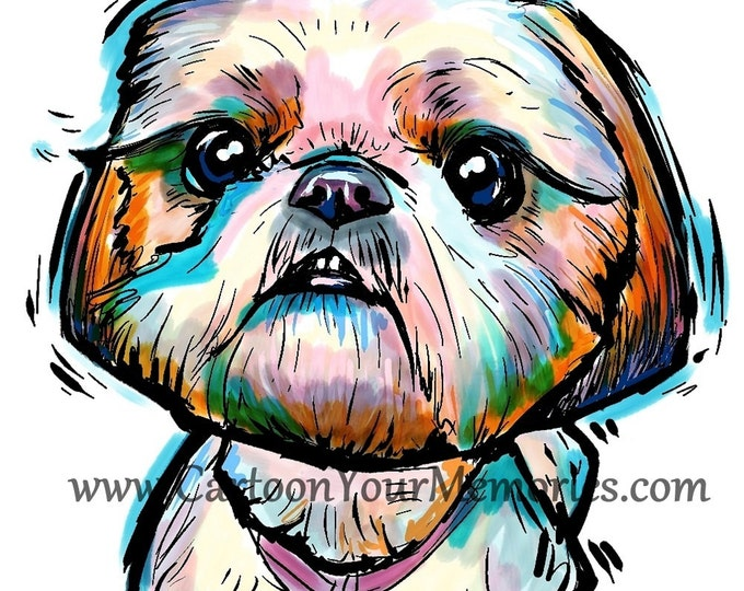 Pretty Little Shih Tzu Art Print
