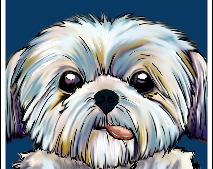 shihtzu pop art print