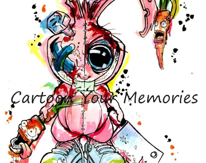Crazy Rabbit Art Print
