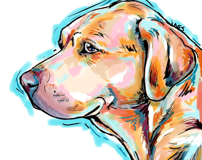 Yellow Lab print