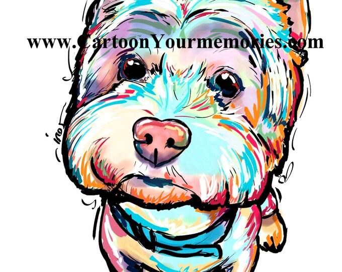Westie art print