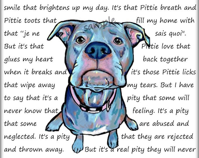 Oh that love ...   Pit Bull art print
