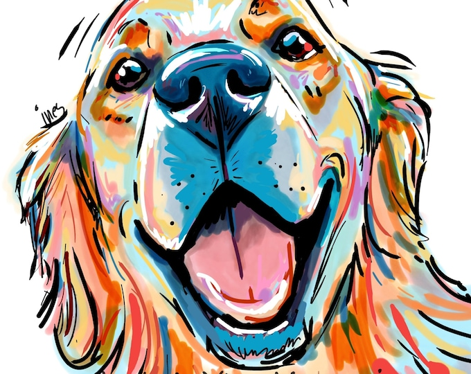Smile! There is a Golden Retriever waiting at home for you!