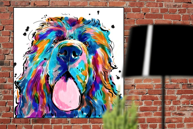 Custom Pet Portrait great gift for the animal lover in your image 0